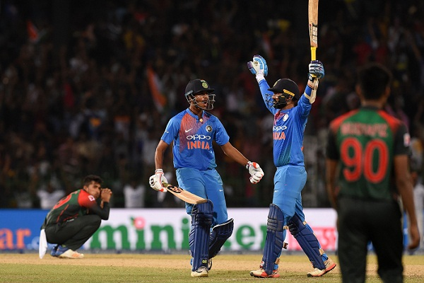 India clinch title with Karthik's last-ball six