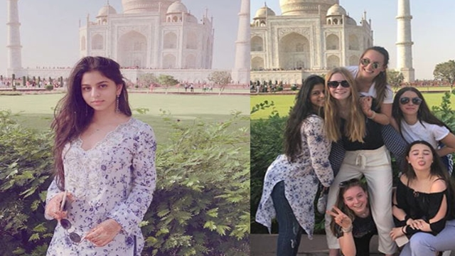 Suhana Khan and her friends visit Taj Mahal