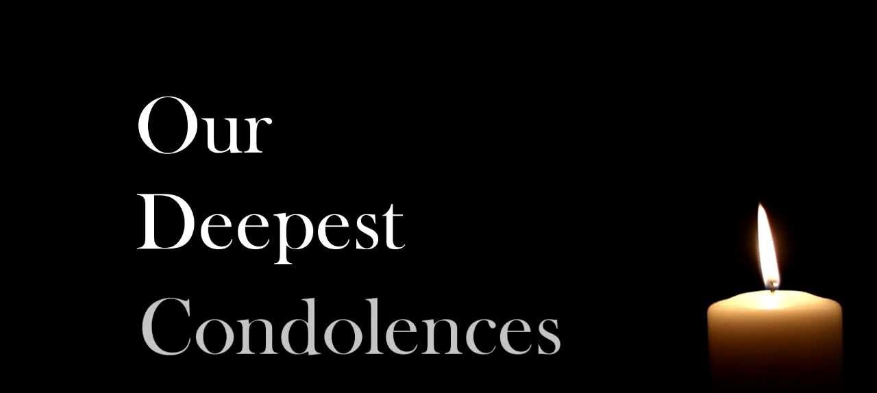 Condolence Message!