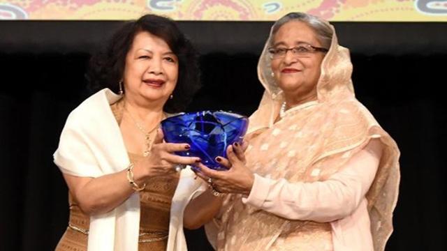 Hasina receives Global Women's Leadership Award