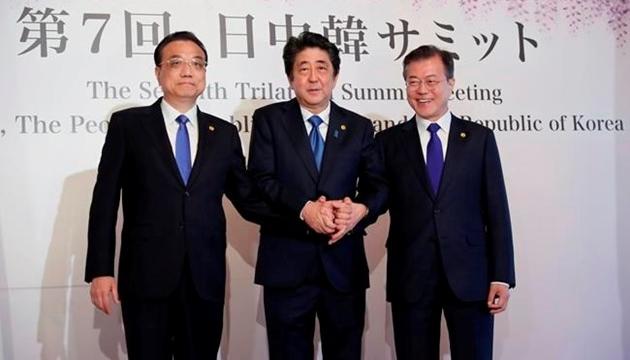 Leaders of Japan, China, SKorea agree to cooperate on NKorea